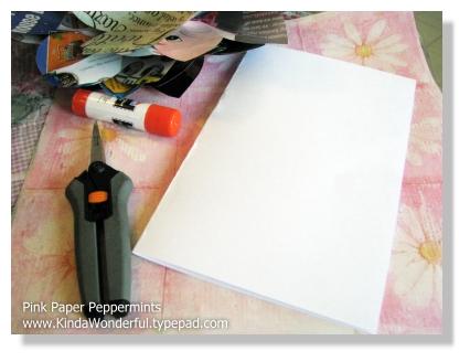 Step eight-fold cardstock
