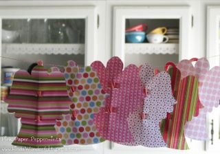 peppermint candy cane paper angel garland