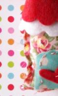sneak peek at a little fabric house ornament