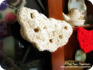 Crochet Garland of Round Granny Squares