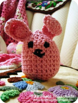 Crochet bunny egg