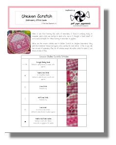 Click here to download this Free Chicken Scratch Embroidery Stitch Guide!