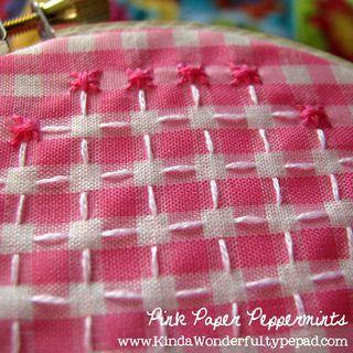 Chicken Scratch Embroidery - Running Stitch
