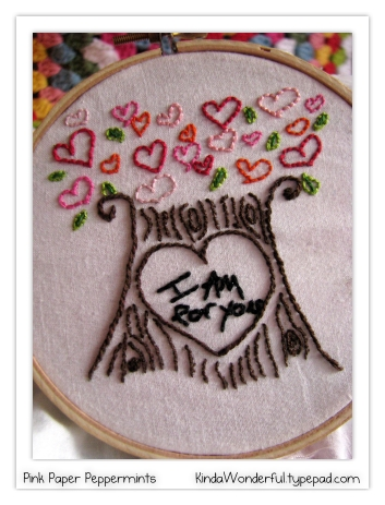Free Heart Tree Embroidery Pattern