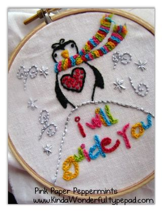 Free Penguin Embroidery Pattern