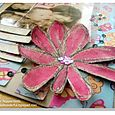 Watercolor Chipboard Flower