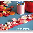 Silk Flower Ribbon & Button Bookmarks