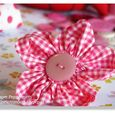 Rounded Petal Fabric Flower