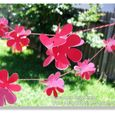 Paper Punch Flower Garland