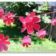 Paper Punch Flower Garland