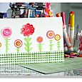 Watercolor Button Stamp Flower Card