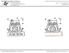 Free Embroidery Pattern -- Sleepy Owl