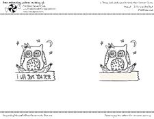 Free Embroidery Pattern -- Sleepy Owl
