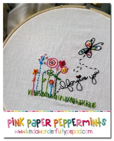 Free Embroidery Pattern April