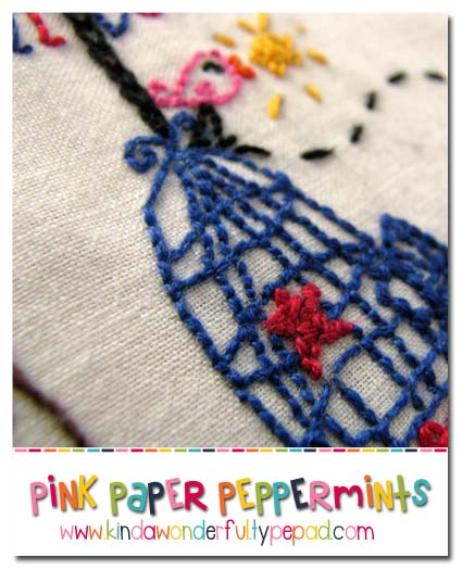 July free embroidery pattern bird cage