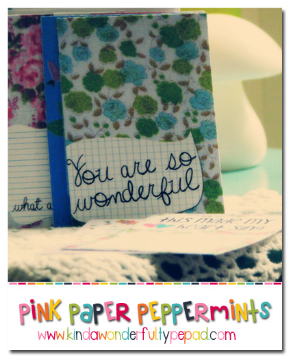 Free Printable Vintage Fabric Journaling Cards- via @melissao from Pink Paper Peppermints www.KindaWonderful.typepad.com