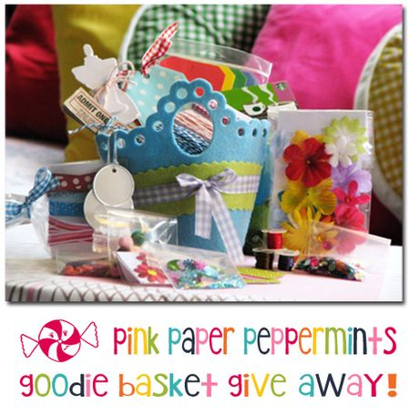 Felt Basket of Scrapbook Goodies giveaway @Pink Paper Peppermints via @melissao