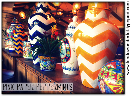Summer Vases @ Uncle Julio's  via Pink Paper Peppermints