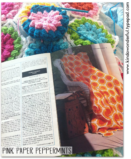 Summer Crochet Hexagons via Pink Paper Peppermints