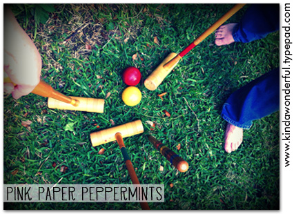 Summer Croquet via Pink Paper Peppermints