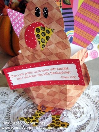 Free Printable Thanksgiving Turkey Favor from Pink Paper Peppermints
