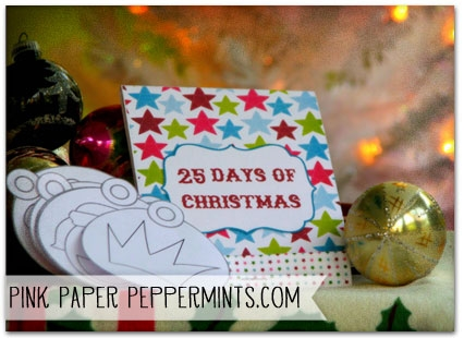 Free printable 25-page Matchbook Mini Album, perfect for Truth in the Tinsel or Daily December from Melissa at Pink Paper Peppermints.com