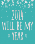 Free printable poster in 7 colors for 2014 via @melissao at PinkPaperPeppermints.com