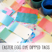 DIY Repurposed Easter Egg Dye Dipped Ombre Tags