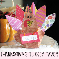 DIY Thanksgiving Turkey Place Card and Favor Craft Pattern and Tutorial!