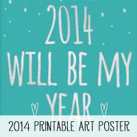 2014 Printable Art Poster
