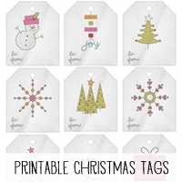Printable Christmas Tags for Gifts or Scrapbooking