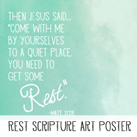 Printable Scripture Art Poster Rest