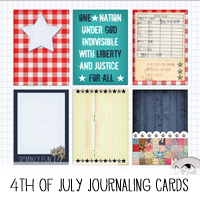 Printable Fourth of July Journaling Cards