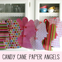 DIY Candy Cane Christmas Angel Printable Pattern and Tutorial