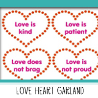 Printable Love Heart Scripture Garland