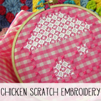 Free DIY Chicken Scratch Embroidery Pattern and Tutorial!
