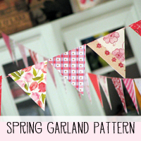 DIY Garland Bunting Pattern and Tutorial