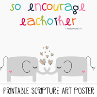 Printable Scripture Art Poster