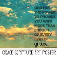 Printable Scripture Art Poster - Grace