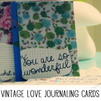 Free Printable Vintage Fabric Journaling Cards
