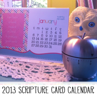 2013 Printable Scripture Journaling Card Calendar