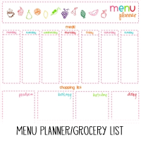 Printable Menu Planner and Grocery List