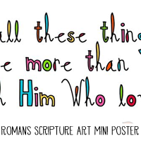 Printable Scripture Art Mini Poster