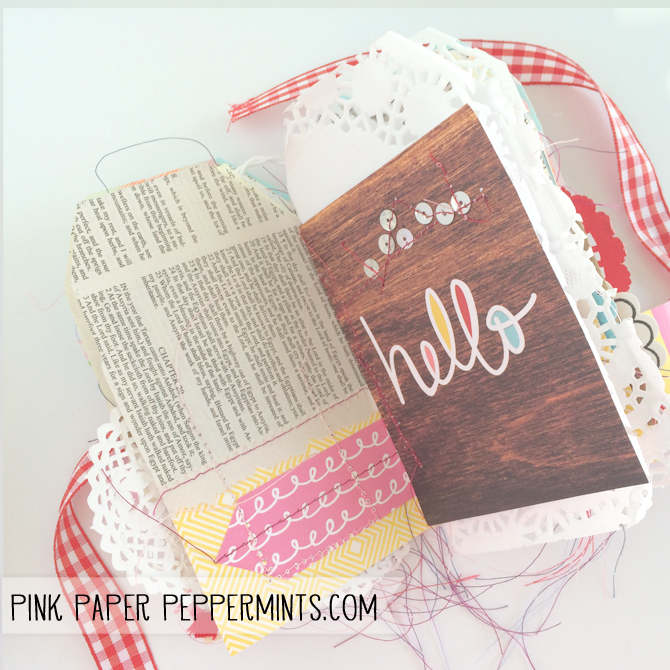 Free Mini Pocket Tag Book Template from Melissa @ PinkPaperPeppermints.com
