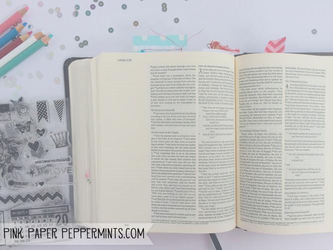 ESV Journaling Bible  via Melissa @PinkPaperPeppermints.com
