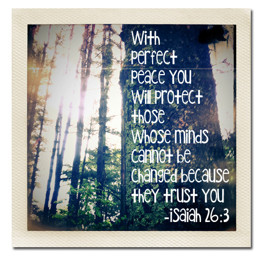 Perfect Peace Isaiah 26:3 via Melissa at PinkPaperPeppermints.com