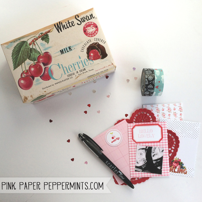 Free Printable Vintage Style Journaling Cards.  Perfect for Valentine's Day via Melissa @ PinkPaperPeppermints.com