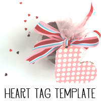 Free Valentine's Heart Tag Printable from Melissa @ PinkPaperPepermints.com