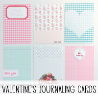 Free Printable Valentine's Journaling Cards via Melissa @ PinkPaperPeppermints.com