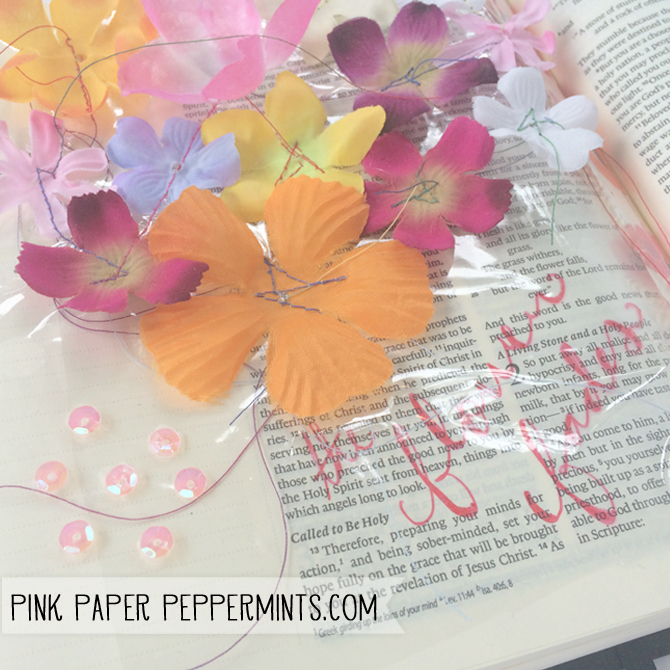 The Flower Fades, bible journaling page (Illustrated Faith)  by Melissa at PinkPaperPeppermints.com